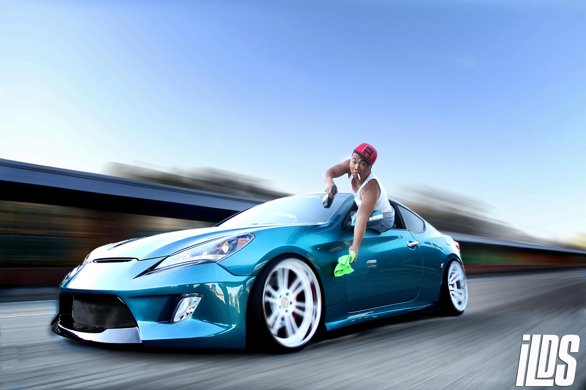 custom offset hyundai wheel bagged parts flush genesis gallery gmr other coupe
